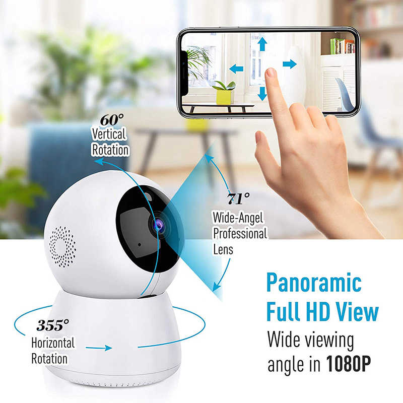 1080P Drehen WiFi Kamera Home Security Surveillance Camcorder Unterstützung Motion Detection Night Vision 2 Weg Audio Telefon APP Push/
