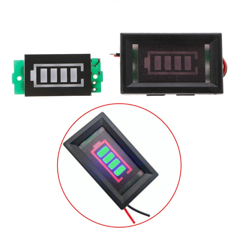 3S 3 Series 12.6V Power Level Lithium Battery Capacity Green Display Indicator Module