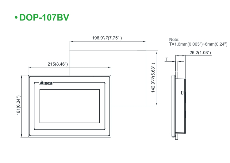 Dop 107bv Replacement Delta Dop B07ss411 Tft 7 Inch Hmi Touch Display Screen Panel Dop B07ss411 New In Box Fasting Shipping