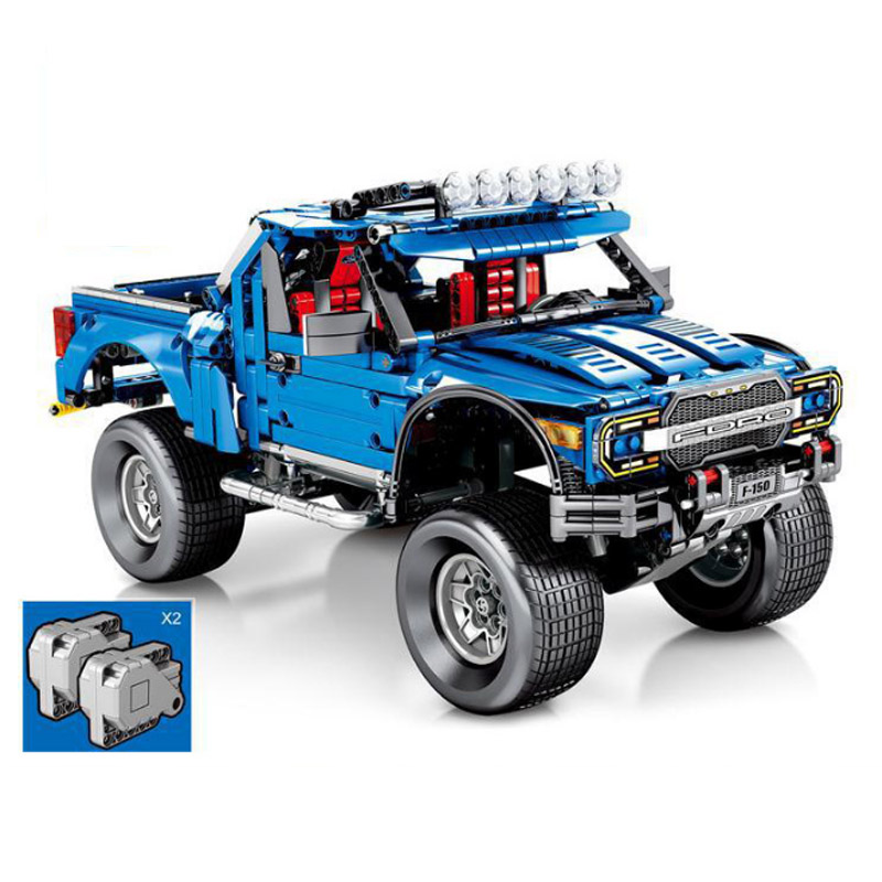 1288pcs 701970 <font><b>Legoinglys</b></font> Technic Fit The F-150 Raptor Pickup Model Building Blocks Set Classic Expert Vehicle Toys For Children image
