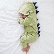 Geckatte New Funny Autumn Winter Dinosaur Cute Romper Baby Girl Clothes Solid Baby Boy Clothes Babygirl Onesie New Born Baby