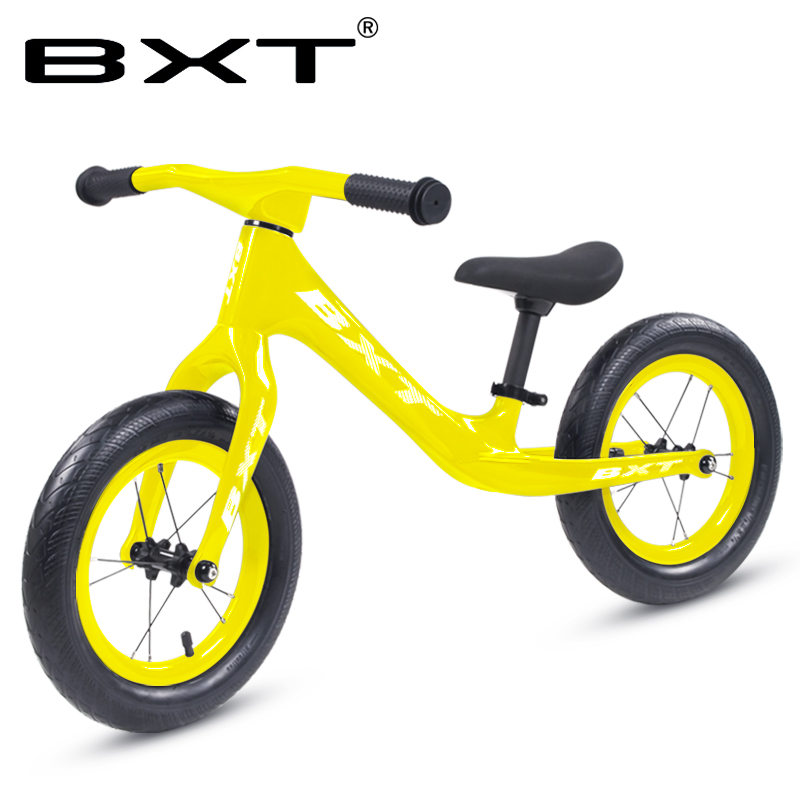12inch Carbon Fiber Bicycle Kid Ultralight Balance Bike No-Pedal Children Carbon Complete Kids Bike Colorful Customization