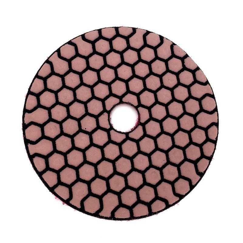 6 قطعة 100 مللي متر قطعة التلميع الجاف 4 بوصة شارب نوع الماس ألواح التلميع للجرانيت الرخام الرملي القرص للحجر