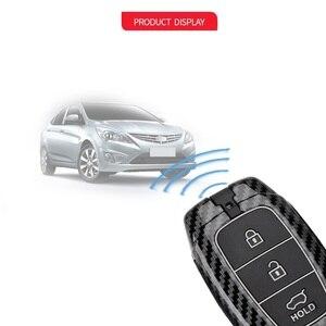 Чехол для автомобильного ключа из углеродного волокна для Hyundai i30 Ix35 KONA Encino Solaris Azera Grandeur Ig Accent Santa Fe Palisade 2017 2018