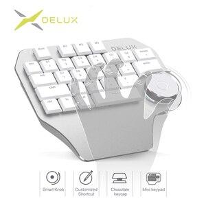 Image 1 - Delux T11 Designer Keyboard with Smart Dial 3 Group Customizable Keys Keypad Compatibility for Wacom Windows Mac Design Softwar