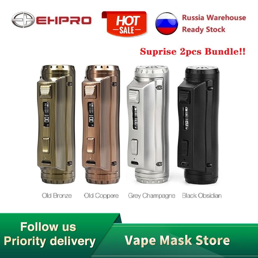 2pcs Hot Sell Ehpro Cold Steel 100 120W TC Box MOD With 0.0018S Ultrafast Firing Speed Electronic Cigarette Vape Mod Vs Drag 2