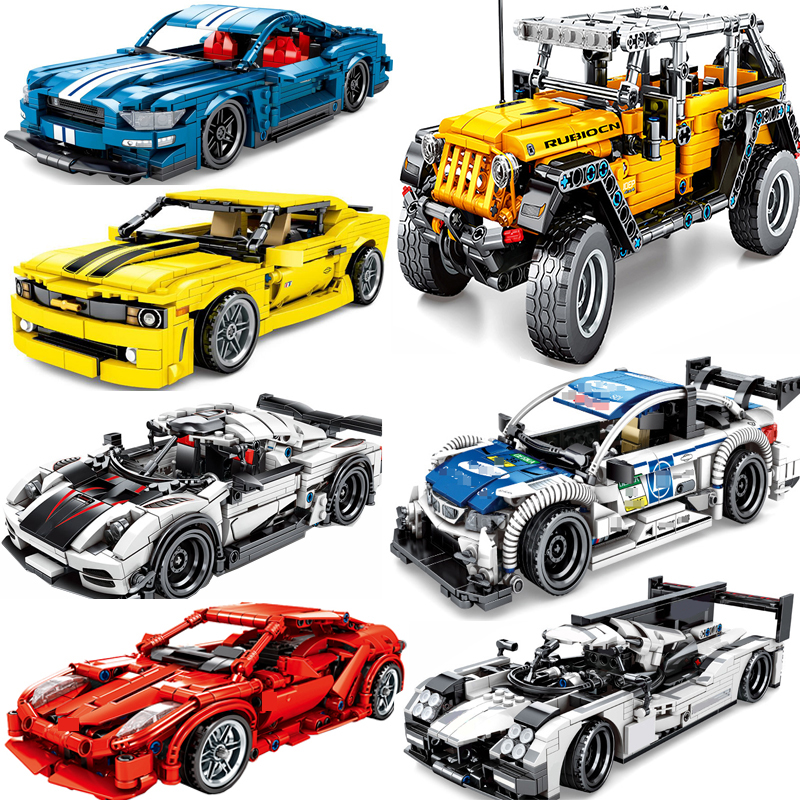 >Off-Road Speed SUV Legoing City <font><b>Vehicles</b></font> <font><b>Super</b></font> <font><b>Racers</b></font> Sports Pull Back Racing Car Technic Building Blocks Toy