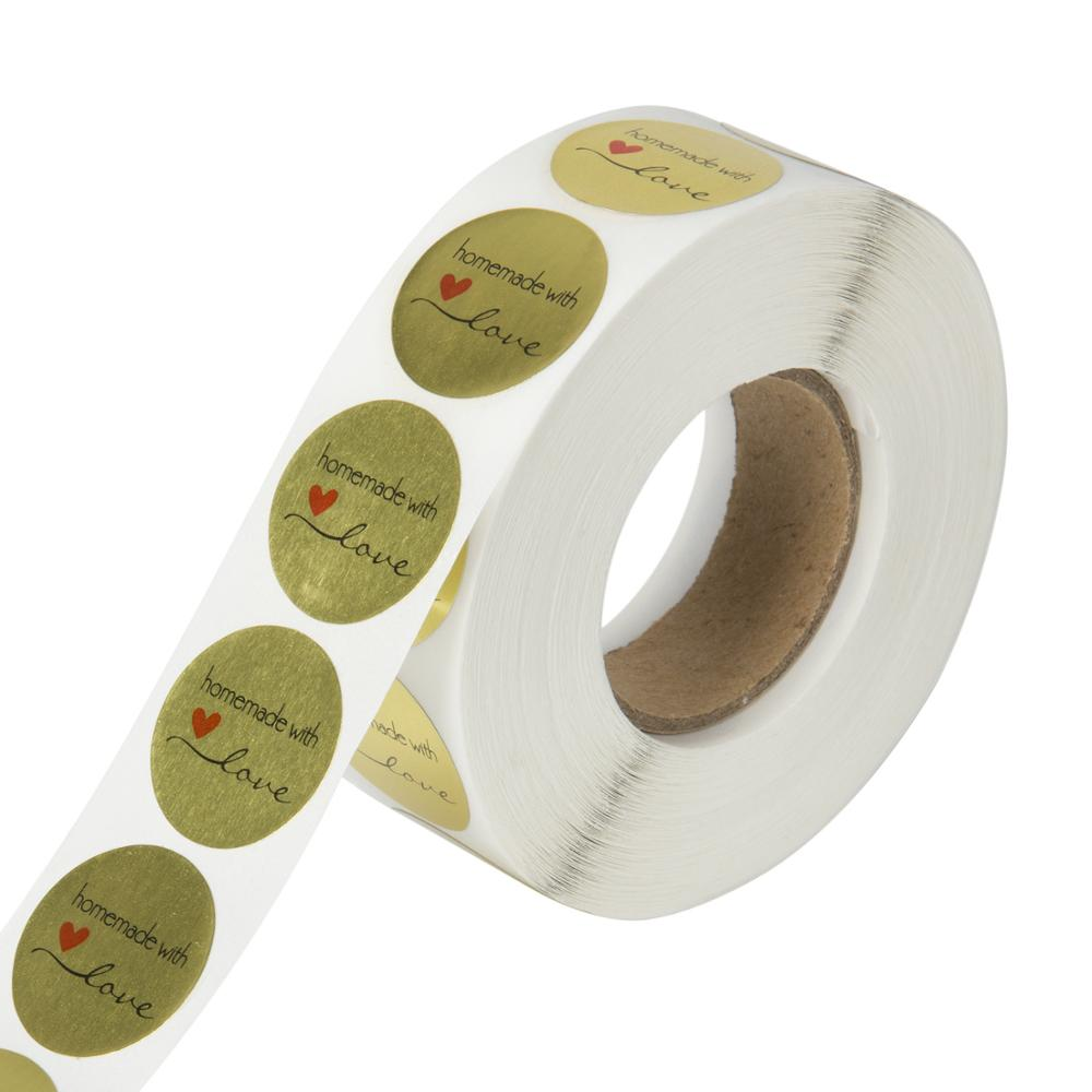 50PCS Per wad Golden Thank You Sticker For Parents Friends Round Style Tag Labels For Business Bag Envelope Seal Reward Gift
