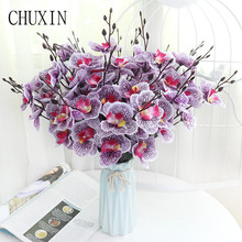 Single Branch Bouquet Butterfly orchid Artificial Flower Wedding Scene Layout Home Decor Wedding Decorations  Valentine's Day
