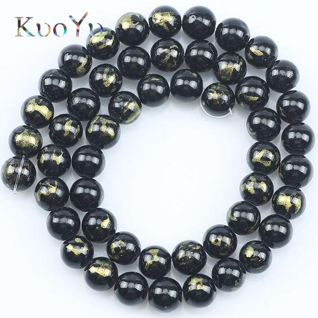 125 Opaca Redonda Negra Lisa Redondas De Plástico Acrílico Perlas De 6mm