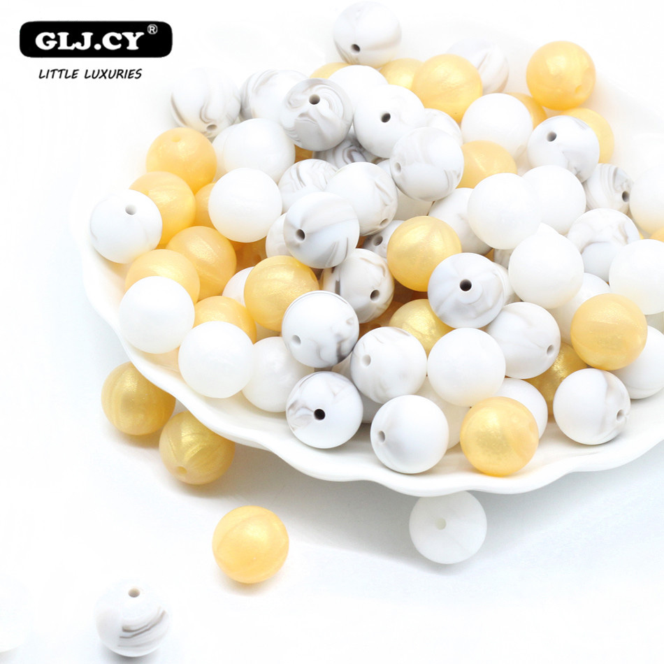 Silicone Bead Marble 50pc Round Small Size 9mm-15mm Baby Silicone Teething Diy Accessories Jewelry DIY Beads