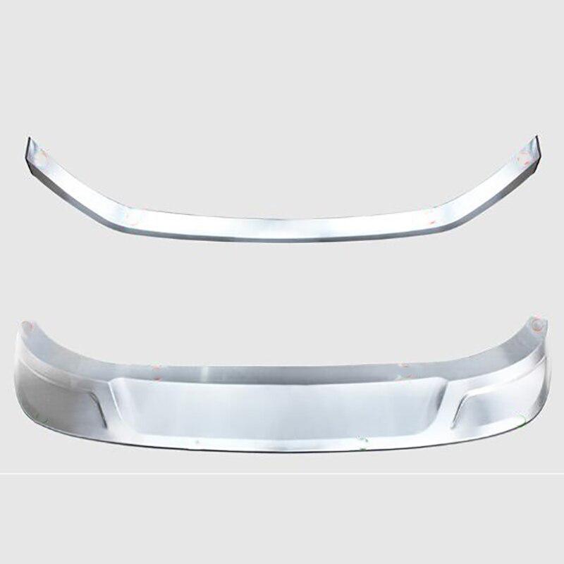 Pour Skoda kodiak acier inoxydable avant et arrière garde pare-chocs corps anti-collision accessoires décoratifs