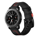 Ремешок кожаный для Samsung galaxy watch active 2 46/мм Gear S3 frontier, браслет для huawei watch gt 2, 20/22 мм