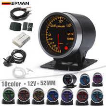 """EPMAN Pointer 2"""" 52mm Car Smoke Bar Turbo Boost Gauge Meter +Sensor+Mount Bracket Cup Holder 7Color +3Color Blacklights EPXX707"""