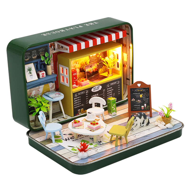 CUTEBEE Doll House Miniature DIY Dollhouse With Furnitures Wooden House Toys For Children Birthday Christmas Gift S933