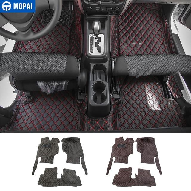 MOPAI Leder Auto Innen Boden Fuß Matten Teppiche Fuß Pads für Suzuki Jimny 2007 2017 Auto Zubehör