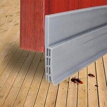 1M Self Adhesive Silicone Bottom Door Window Tape Rubber Sealing Strip Weatherstriping Sound Insulation Sliding Door Seal Strip 3meter genuine original garage door bottom shuttergate electric door bottom sealing rubber strips of leather