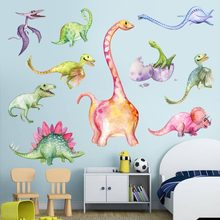 Funny Cartoon Dinosaur Mermaid Wall Sticker Children Bedroom Removable Art Decals Home Living Room Decoration Wallpaper(China)