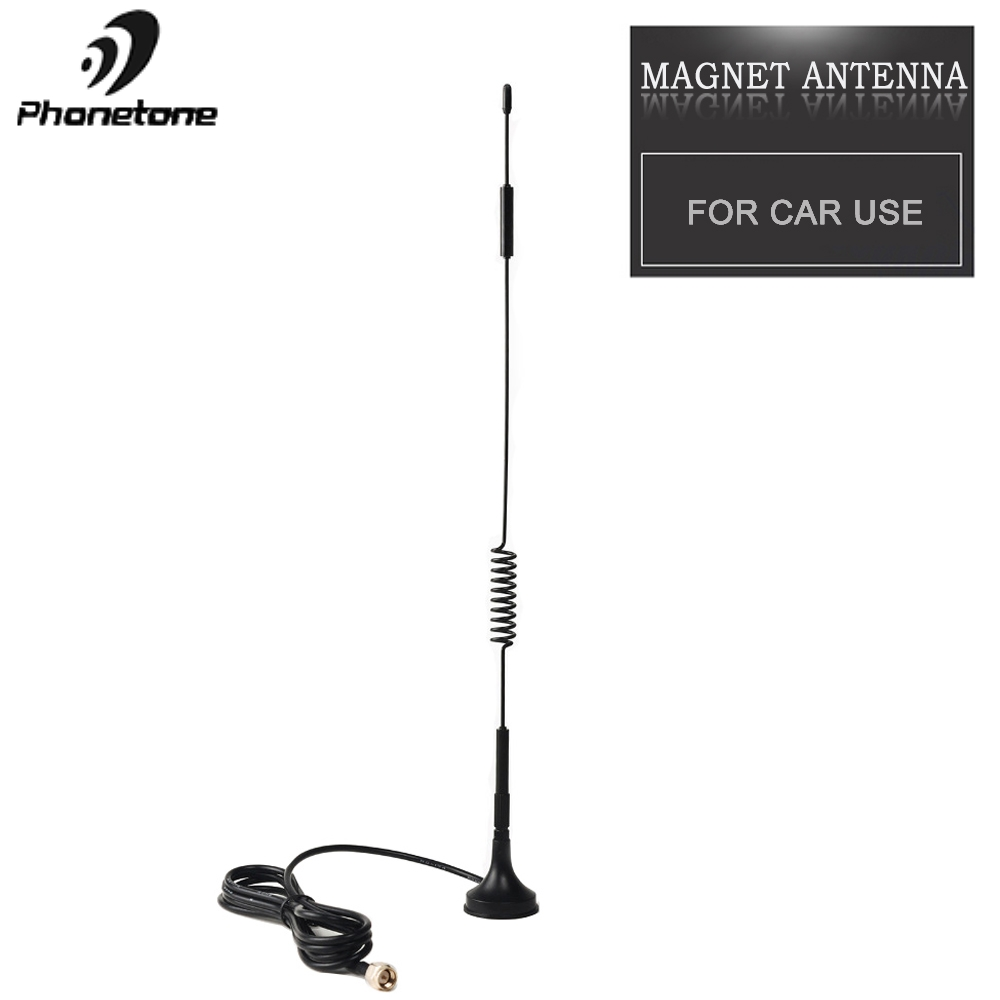 Outdoor Magnet Antenna For Car Use 4G Lte Cellular Signal Booster Repeater 3dBi 3G Antenna GSM & SMA Female Connector 1.5M Cable