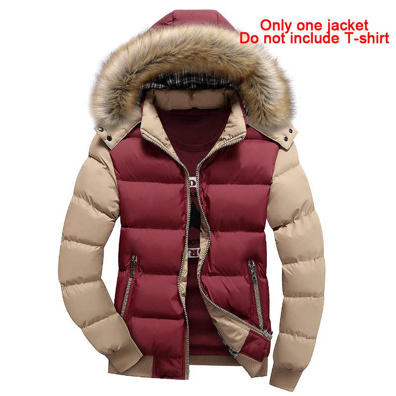 New autumn and winter men's casual fashion cotton jacket cotton youth tide men's thick cotton clothes detachable cap MY132