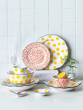 New Arrival Ceramic Tableare Dinner Plate Set 4/6/7/8/9 Inch Plate Soup Bowls Breakfast Set Salad Plate For Kitchen Party