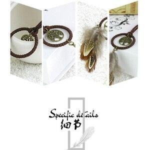 Image 4 - לוכד חלומות רכב קישוטי תליית אביזרי תליון מפתח טבעת לתפוס חלום נטו מפתח שרשרת רטרו הרי נוצה