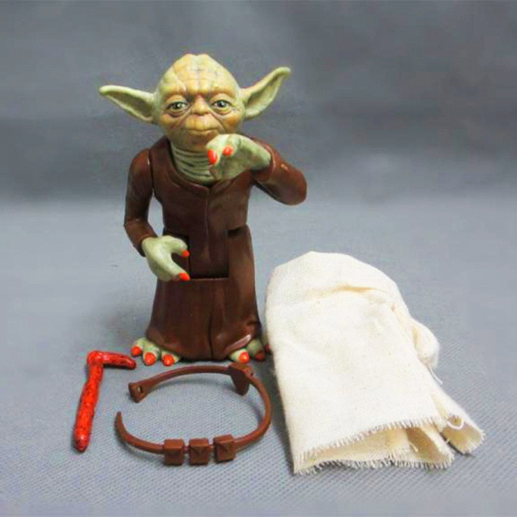 Movie Mandalorian Skywalker Master Baby Yoda 13cm Real Clothes Action Figure Model Doll Toys