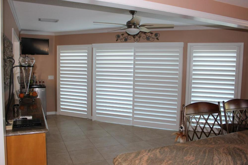 Custom Basswood Plantation Shutters Wooden Blinds Solid Wood Shutter Louvers PS286