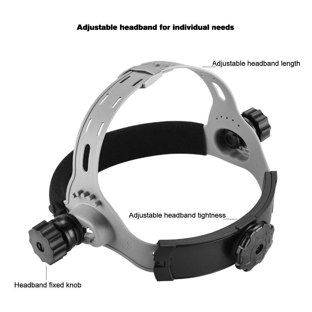 Image 4 - DEKO Skull Solar Auto Darkening Electric Welding Mask/Helmet/Welder Cap Adjustable Welding Lens Eyes Mask for Welding Machine-in Welding Helmets from Tools