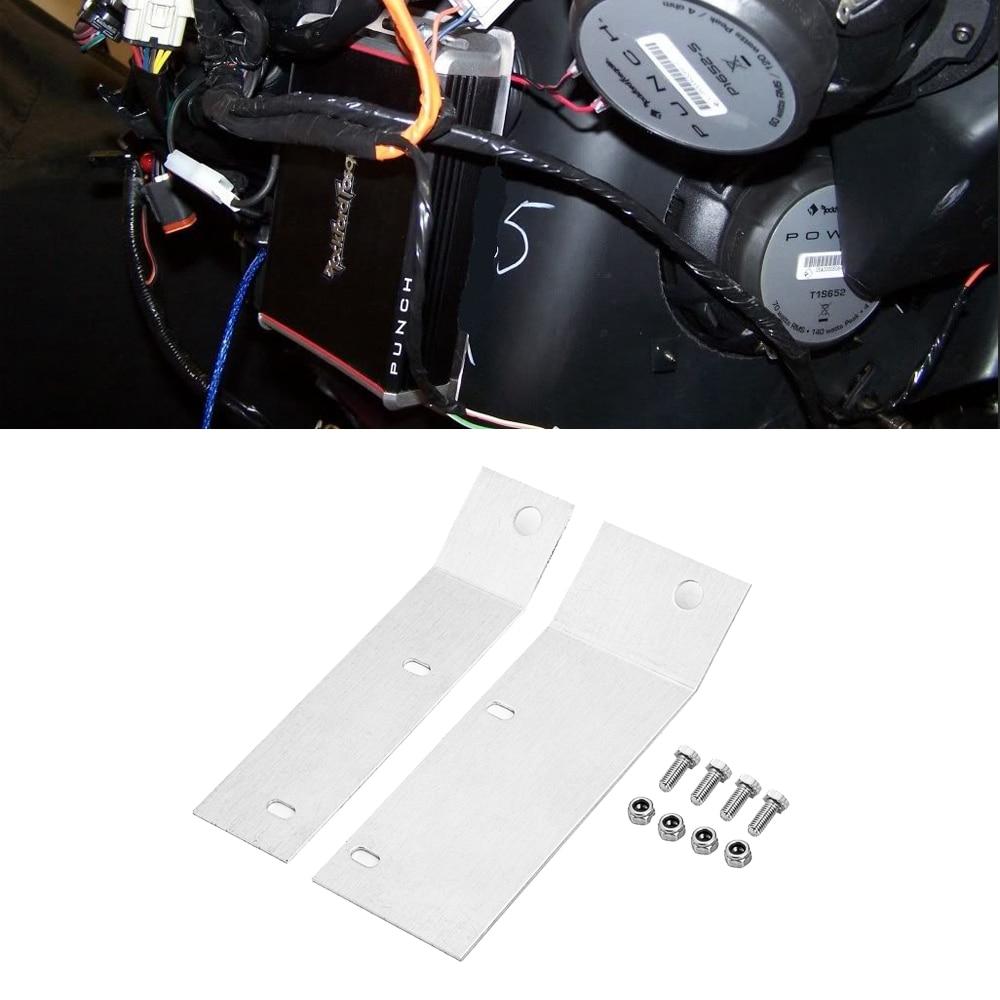 For Harley Rockford Fosgates 1998 2013 PBR400X4D PBR300X2 Amplifier Mount Bracket|Motorcycle Audio| |  - title=