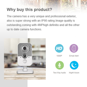 Image 5 - Hikvision OEM 4MP IR Cube HD Audio Microphone Wifi IP Camera Onvif Home Security Surveillance Without Logo H.264 DS 2CD3442F IW