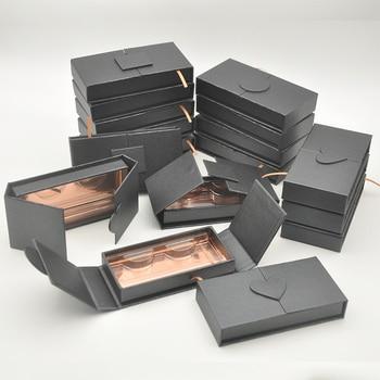 Venta al por mayor, caja de embalaje de pestañas personalizadas con logotipo, etiqueta, cajas de pestañas, embalaje, imitación de visón, tiras de pestañas, estuche vacío a granel