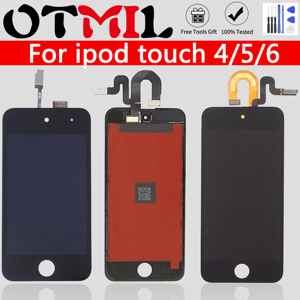 OTMIL LCD Display For IPod Touch 4 5 6 7 LCD Touch Screen Digitizer Assembly Free Tool Adhesive For Ipod Touch 4 5 6 7 Display