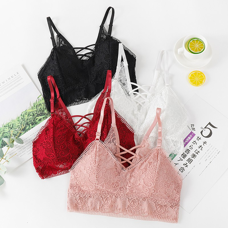Sexy Lave Embroidery Tube Top Froral Women Tank Top Summer Beauty Back Lace Bras