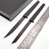 Gentleman Folding Knife M390 Powder Steel Blade Carbon fiber Handle Outdoor Survival Pocket Mini Knives Camping Hunting EDC Tool|Knives| |  -