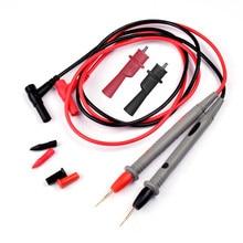 Fil de Silicone sonde universelle, 1 paire de fils de Test broche avec pince crocodile pour multimètre numérique pointe d'aiguille 20A ensemble de testeur multiple