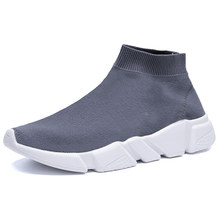 Fashion Shoes Men Casual Sneakers Lightweight Sock Breathable Slip on Large Sizes