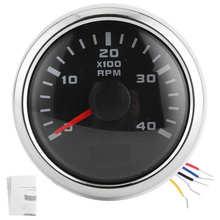 Digital Tachometer Gauge 52mm 4K RPM LCD Hour Display Meter Waterproof for Car Yachts Motorcycle ABS Car Tachometer