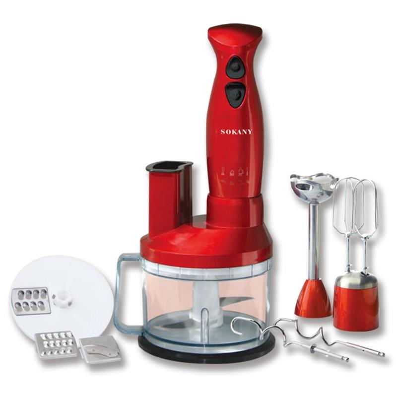 SOKANY Household Electric Blender Handheld Food Mixer Blender Baby Food Supplement Mixer Grinder Kitchen Food Processor EU Plug