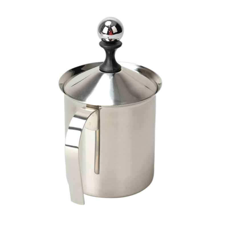800ML spieniacz do mleka Cappuccino Creamer pianka do kawy Pull Flower Cup mleko butelka z pompką podwójna siatka kubki do mleka spieniacz spieniacz kuchnia