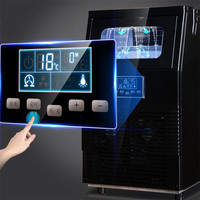 Fully Automatic Ice Maker Machine 40kg Desktop Commercial Small Home Use Square Ice Cube Ice Making Tools Frozen Home Appliances