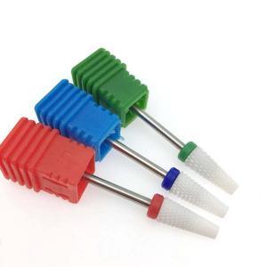 1 шт. керамическая конусная фреза для ногтей фреза электрическая фреза для маникюра устройство для удаления аксессуаров гель пилка для ногт...