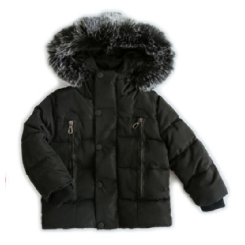 Winter Childrens coat Fur Collar Hooded kids clothes Baby Boys Girls Thickened Down Jacket 2021 Y09.12 5