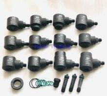 Diesel común inyector para riel abrazaderas de 12 Uds... reparación del inyector de adaptadores herramienta Bosch Denso y Renault