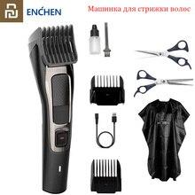 2020 youpin enchen sharp3s máquina de cortar cabelo, original, carregamento rápido, masculino, máquina de corte elétrica, profissional, baixo ruído