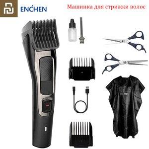 Image 1 - 2020 youpin enchen sharp3s máquina de cortar cabelo, original, carregamento rápido, masculino, máquina de corte elétrica, profissional, baixo ruído