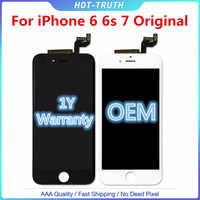 1:1 OEM jakości oryginalny ekran dotykowy dla iPhone 6 6S 6SP 7G wyświetlacz LCD Digitizer Aseembly z Logo