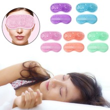 Reusable PVC Gel Beads Eye Mask Flexible Soothing Relaxing Sleeping Mask Ice Goggles for Hot Cold Therapy