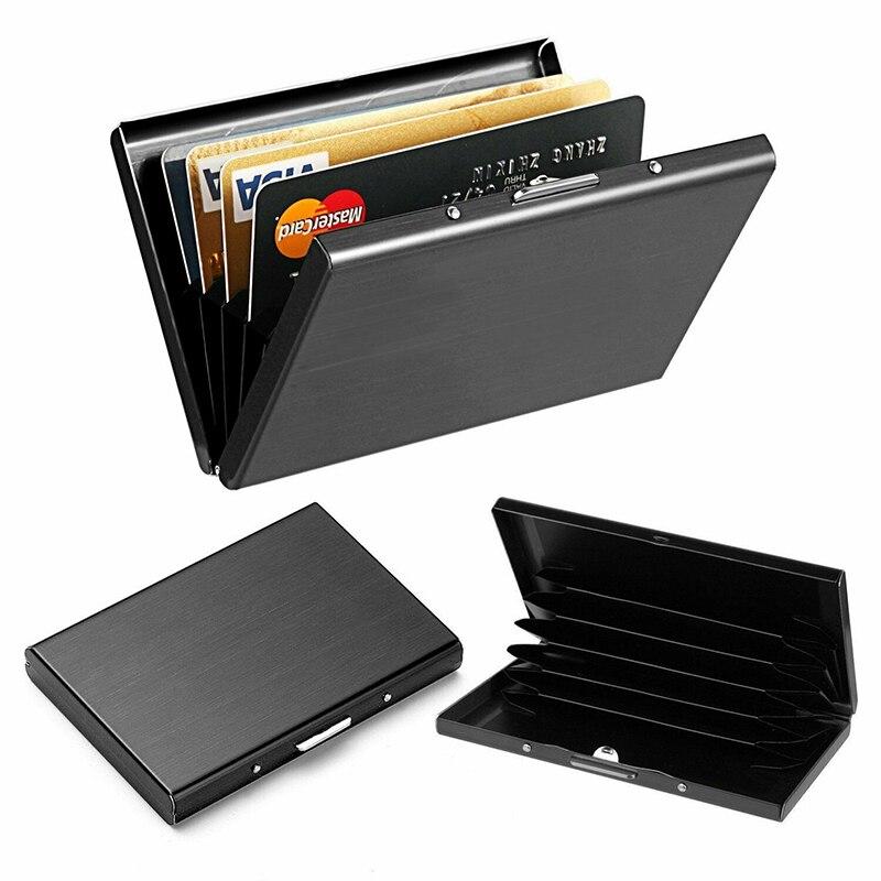 Metal RFID Blocking Wallet Slim Anti-Scan Contactless Credit Card Holder Wallet