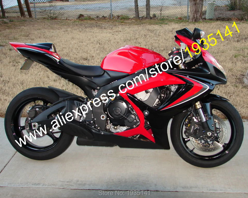 For Suzuki GSX-R <font><b>600</b></font> 750 K6 2006 <font><b>2007</b></font> Parts <font><b>GSXR</b></font> <font><b>600</b></font>/750 06 07 Red Black Aftermarket <font><b>Fairing</b></font> <font><b>Kit</b></font> (Injection molding) image